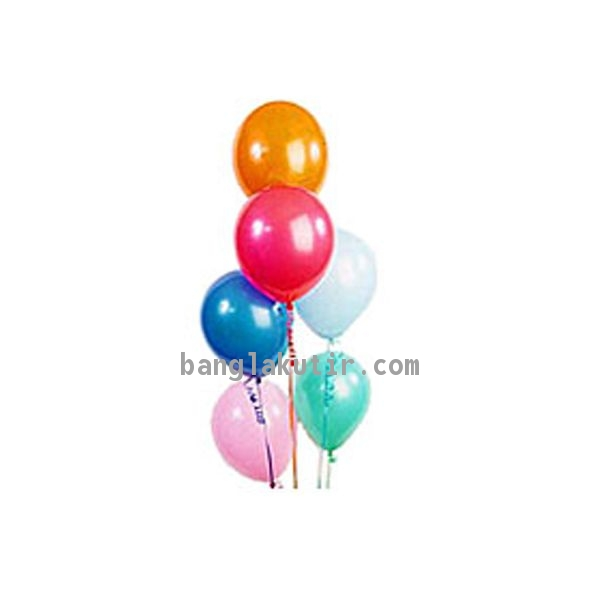 6 pcs Multicolor Balloon