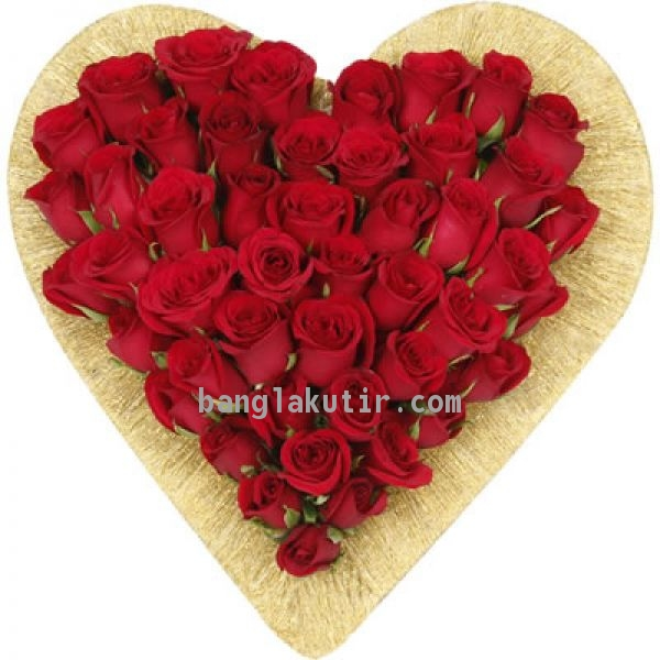 Romantic Heart Roses