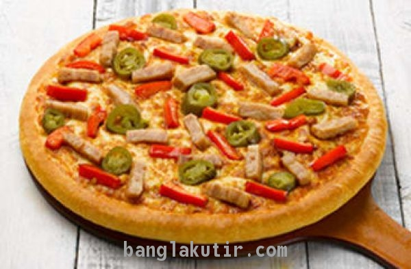 Smoked Chicken Pan Pizza ( Favourites Mideum)