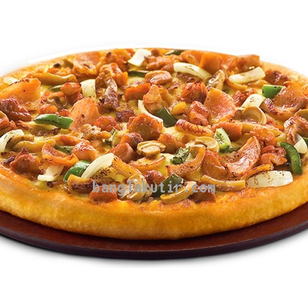 Chicken Hawaiian Pan Pizza ( Favorites Mideum)