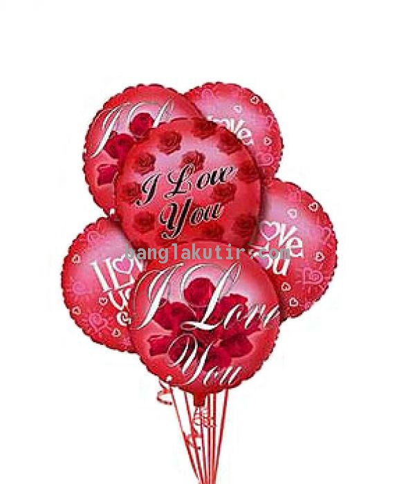I Love You Balloons 5Pcs